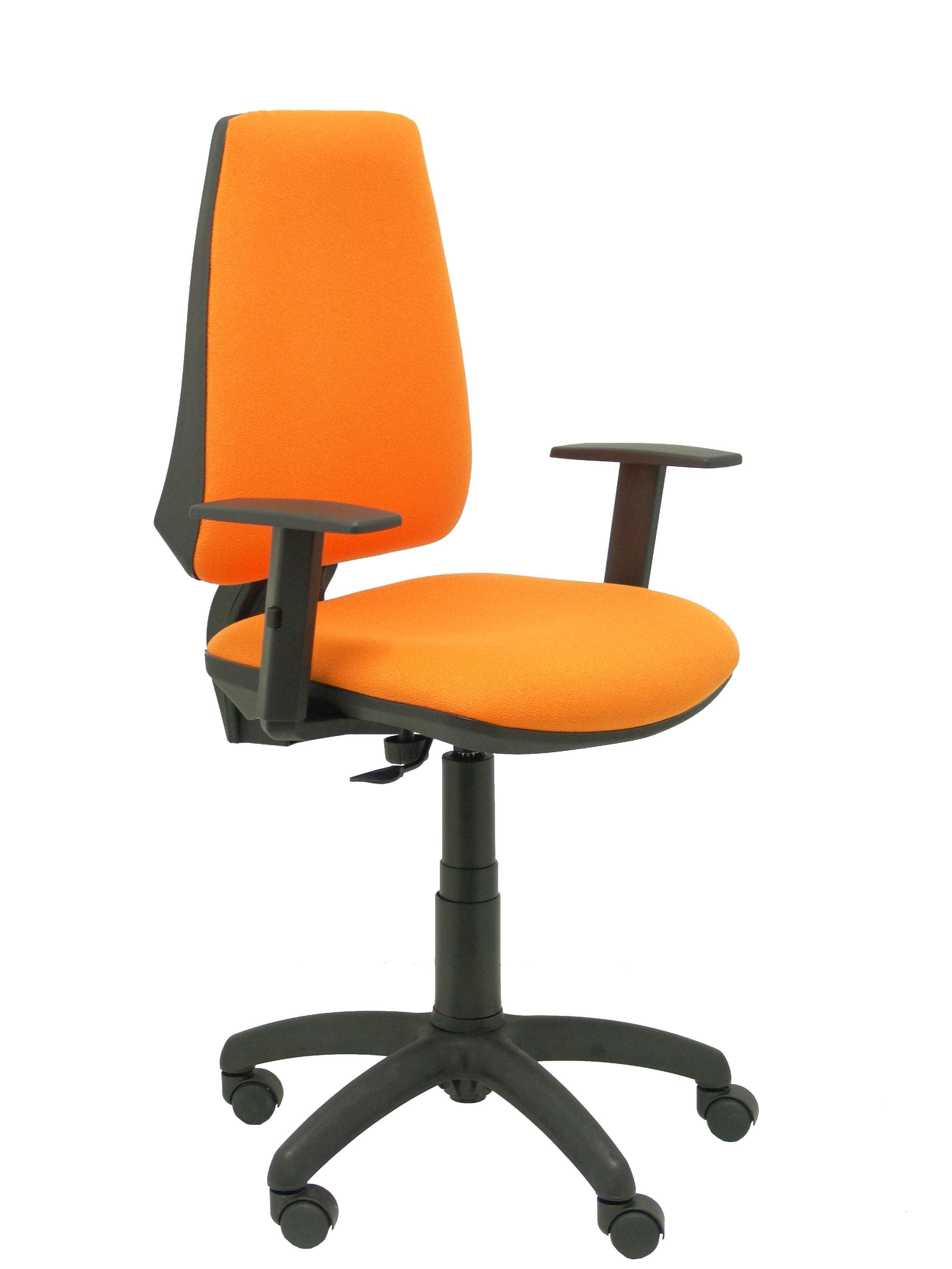Silla Elche CP bali naranja brazos regulables