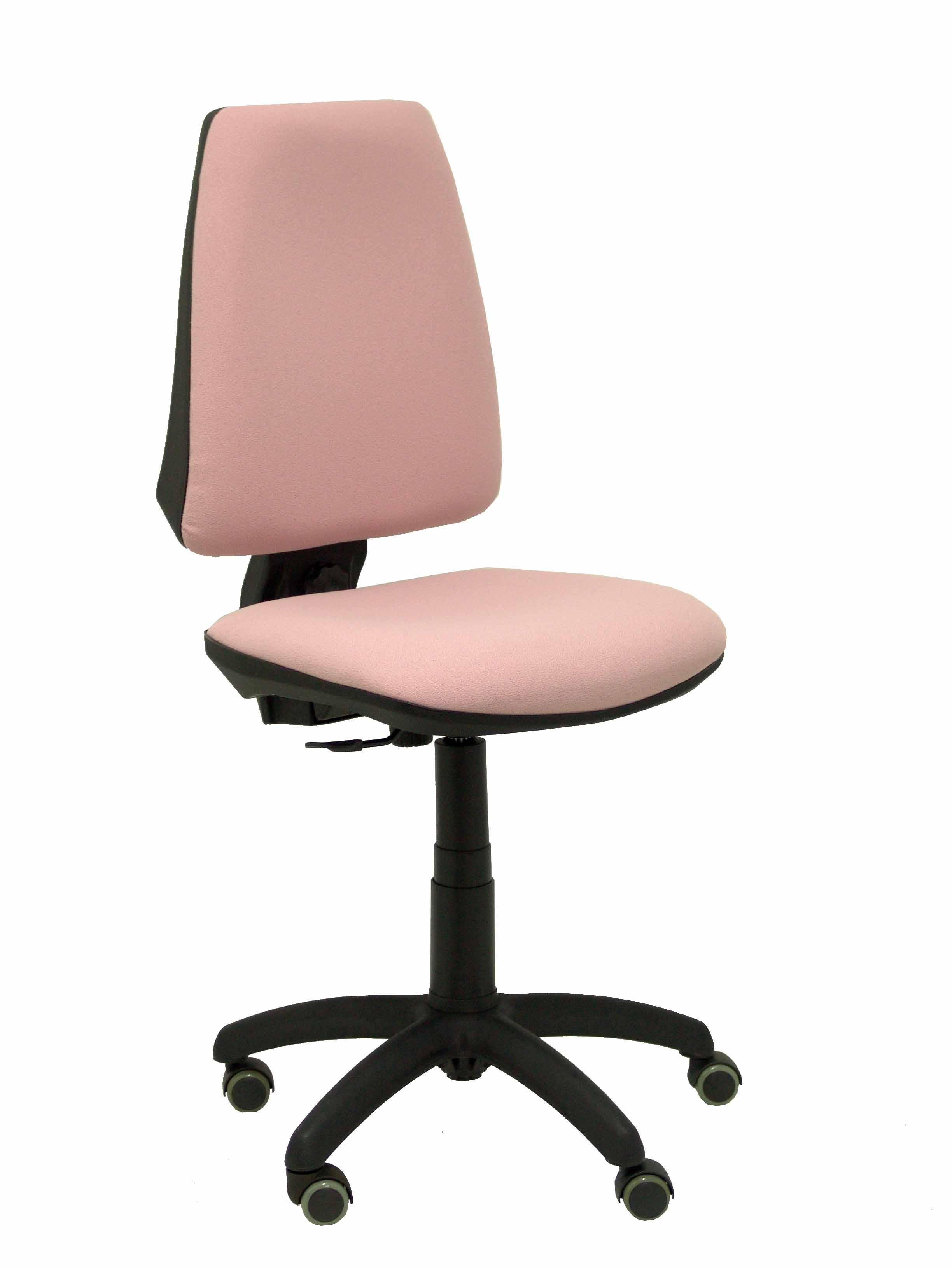 Silla Elche CP bali rosa pálido ruedas de parquet