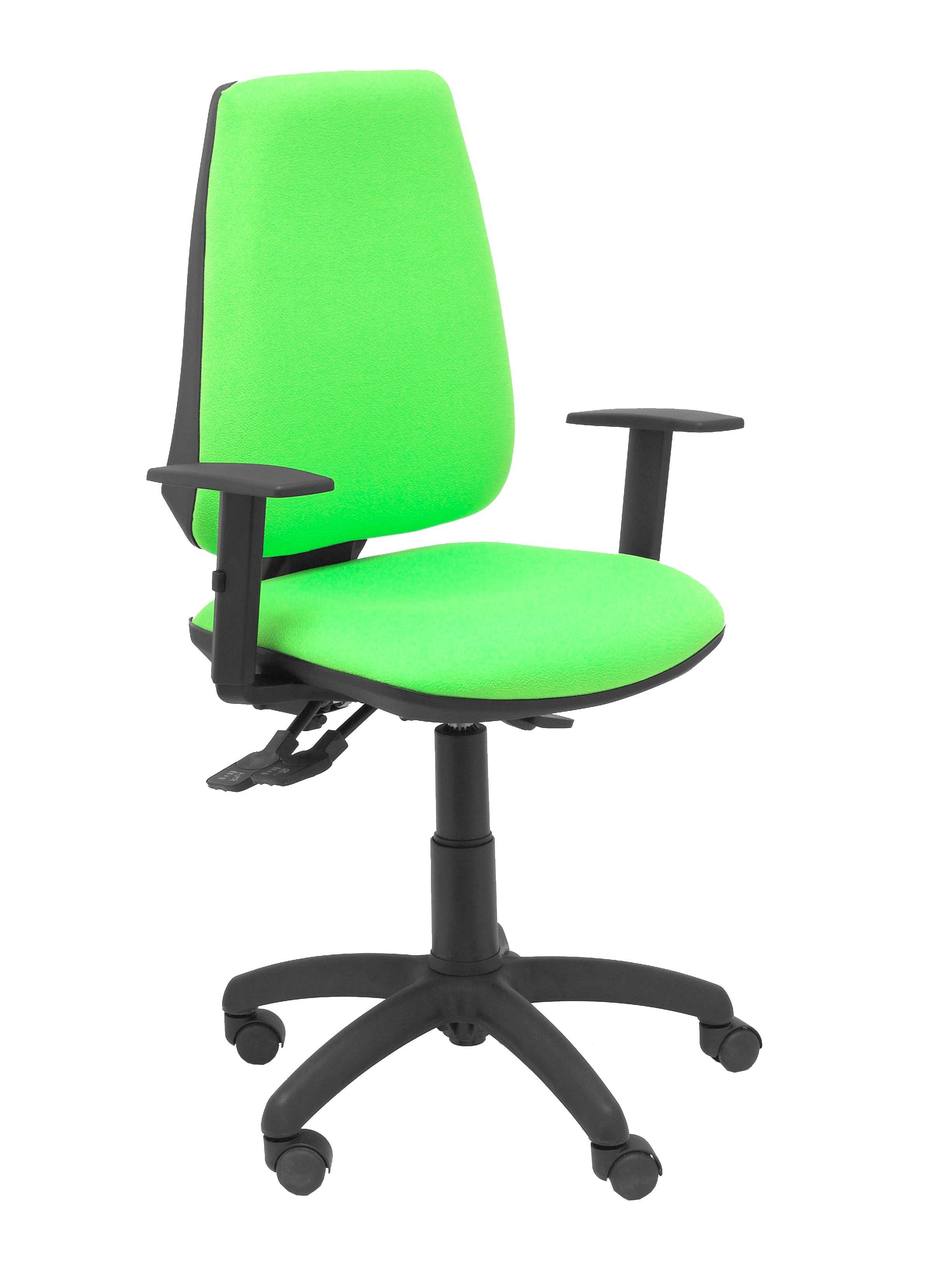 Silla Elche S bali verde pistacho brazos regulables