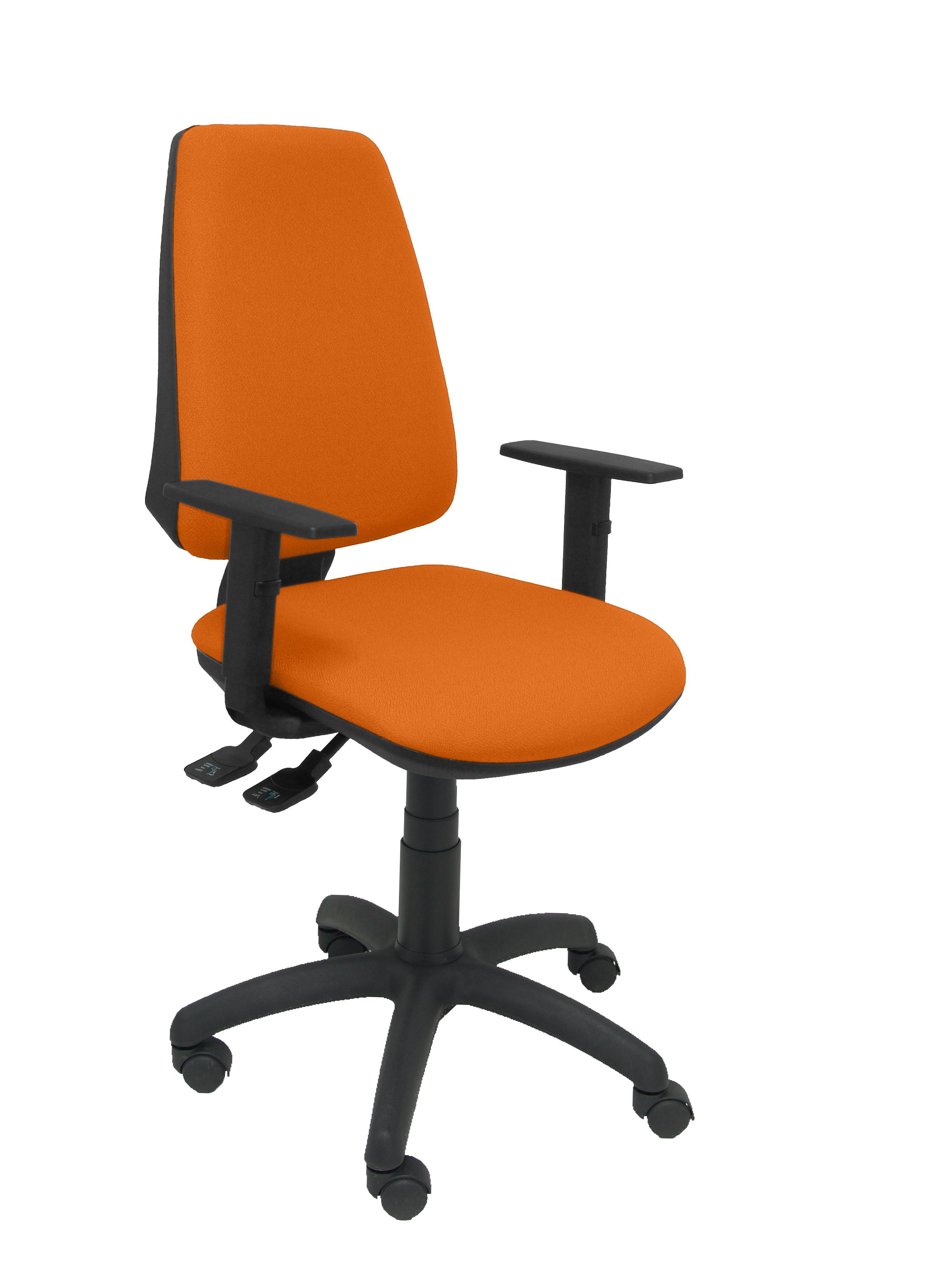 Silla Elche S bali naranja brazos regulables