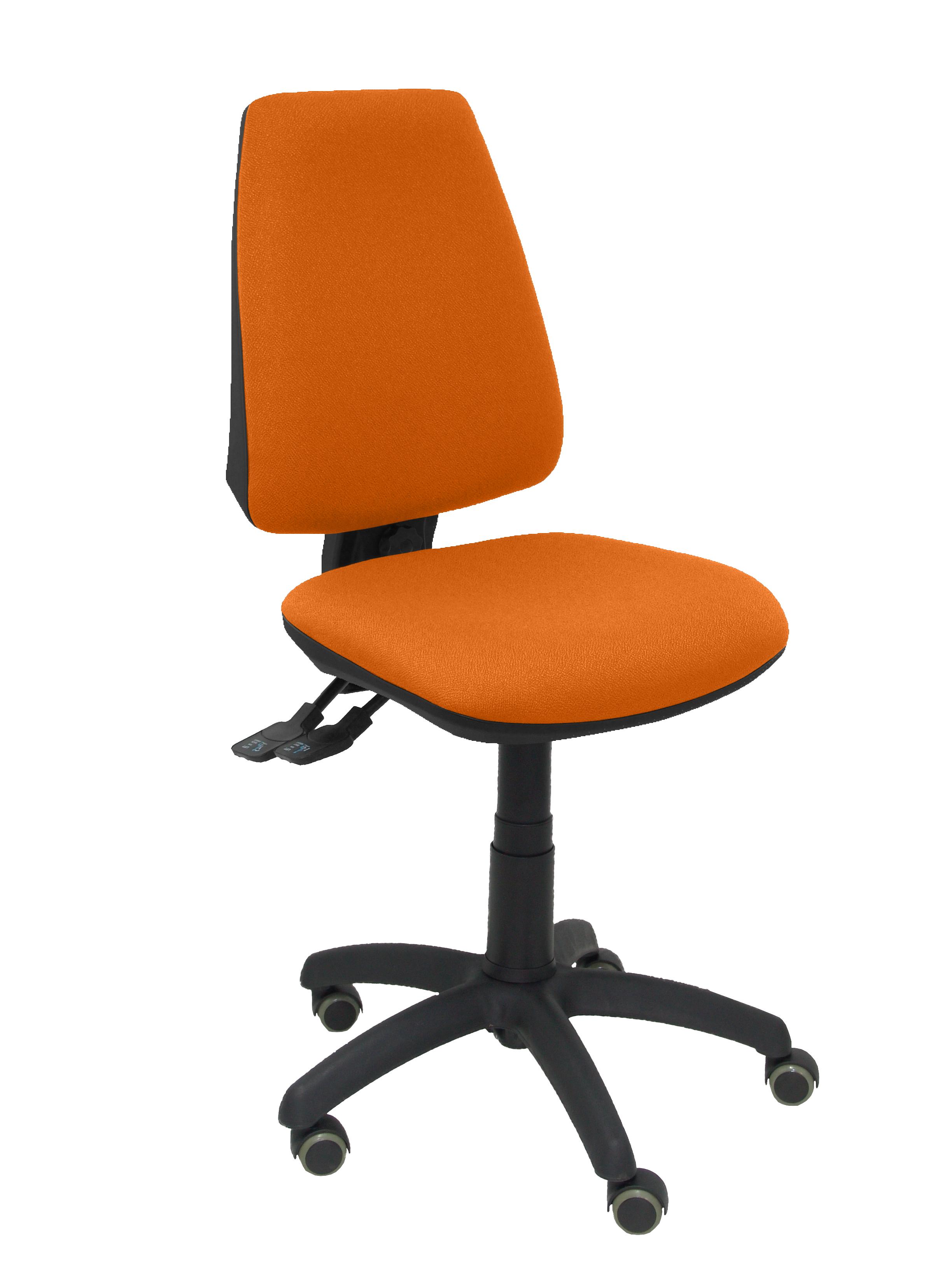 Silla Elche S bali naranja ruedas de parquet