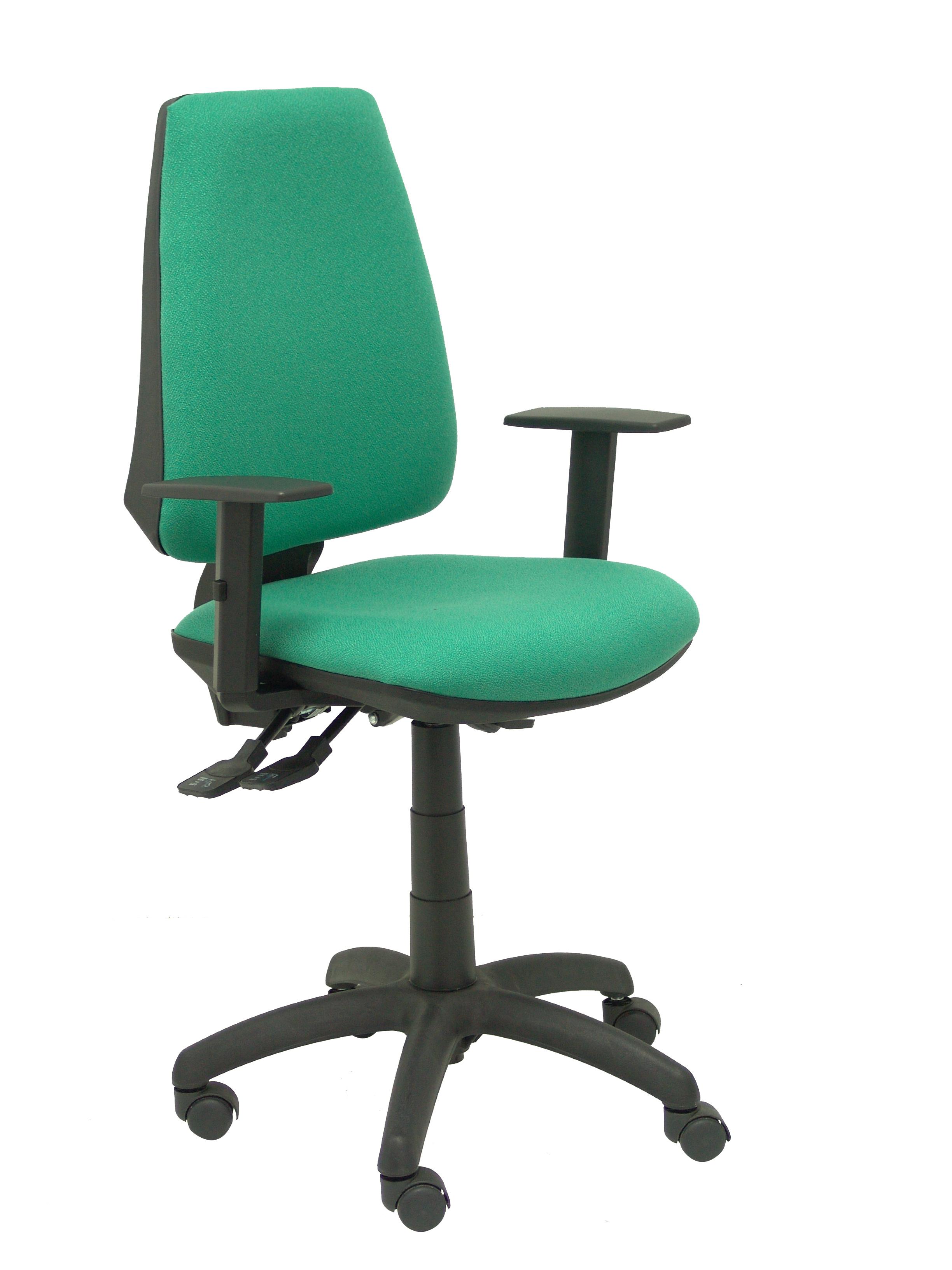 Silla Elche S bali verde brazos regulables