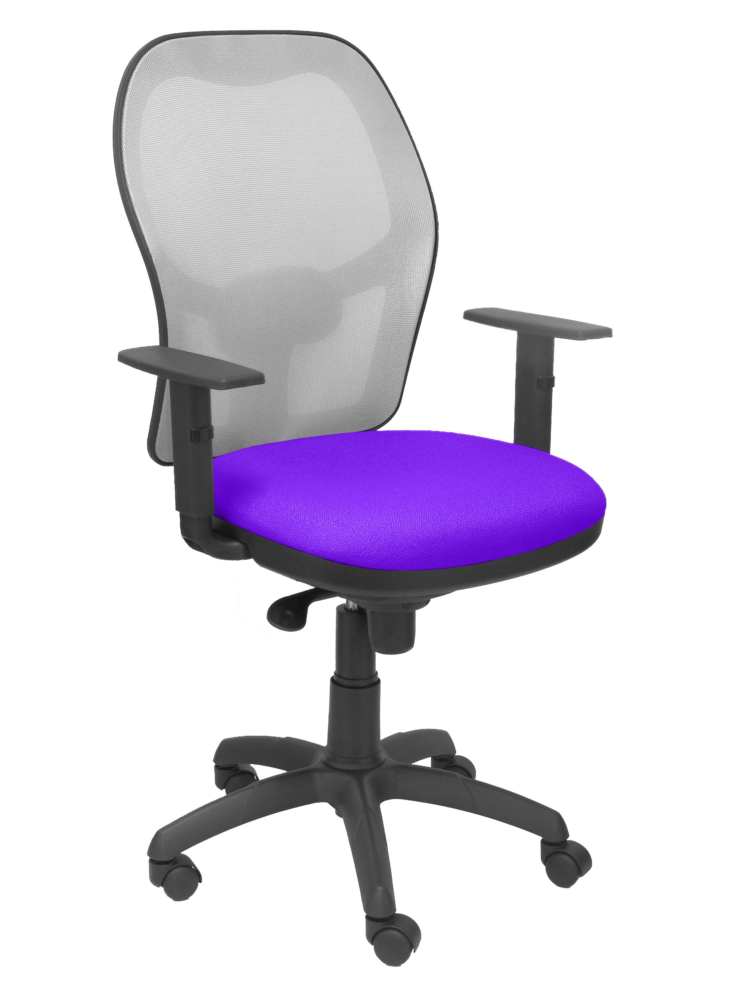 Silla Jorquera malla gris asiento bali lila