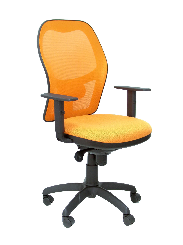 Silla Jorquera malla naranja asiento bali naranja