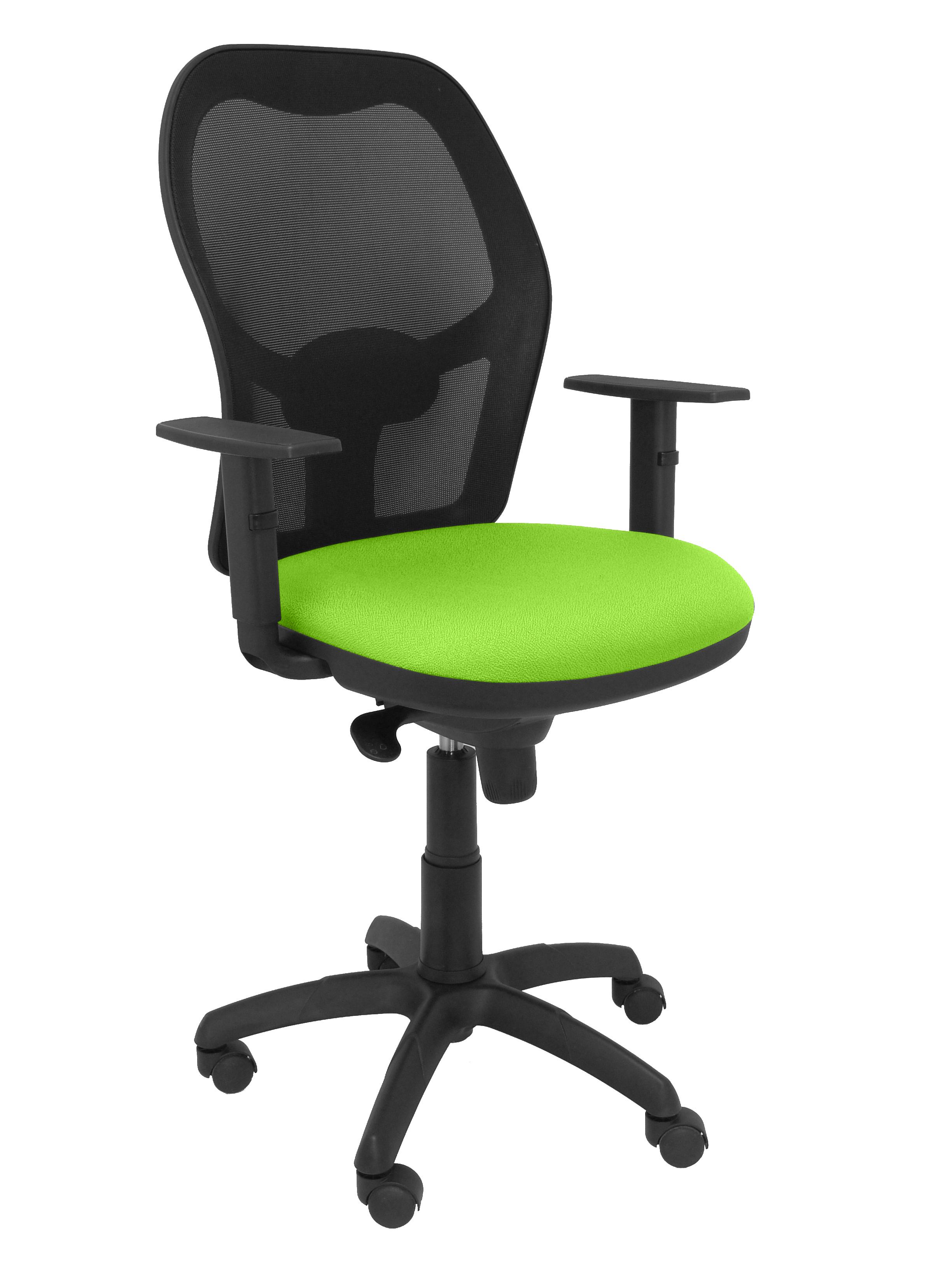 Silla  Jorquera malla negro asiento verde pistacho