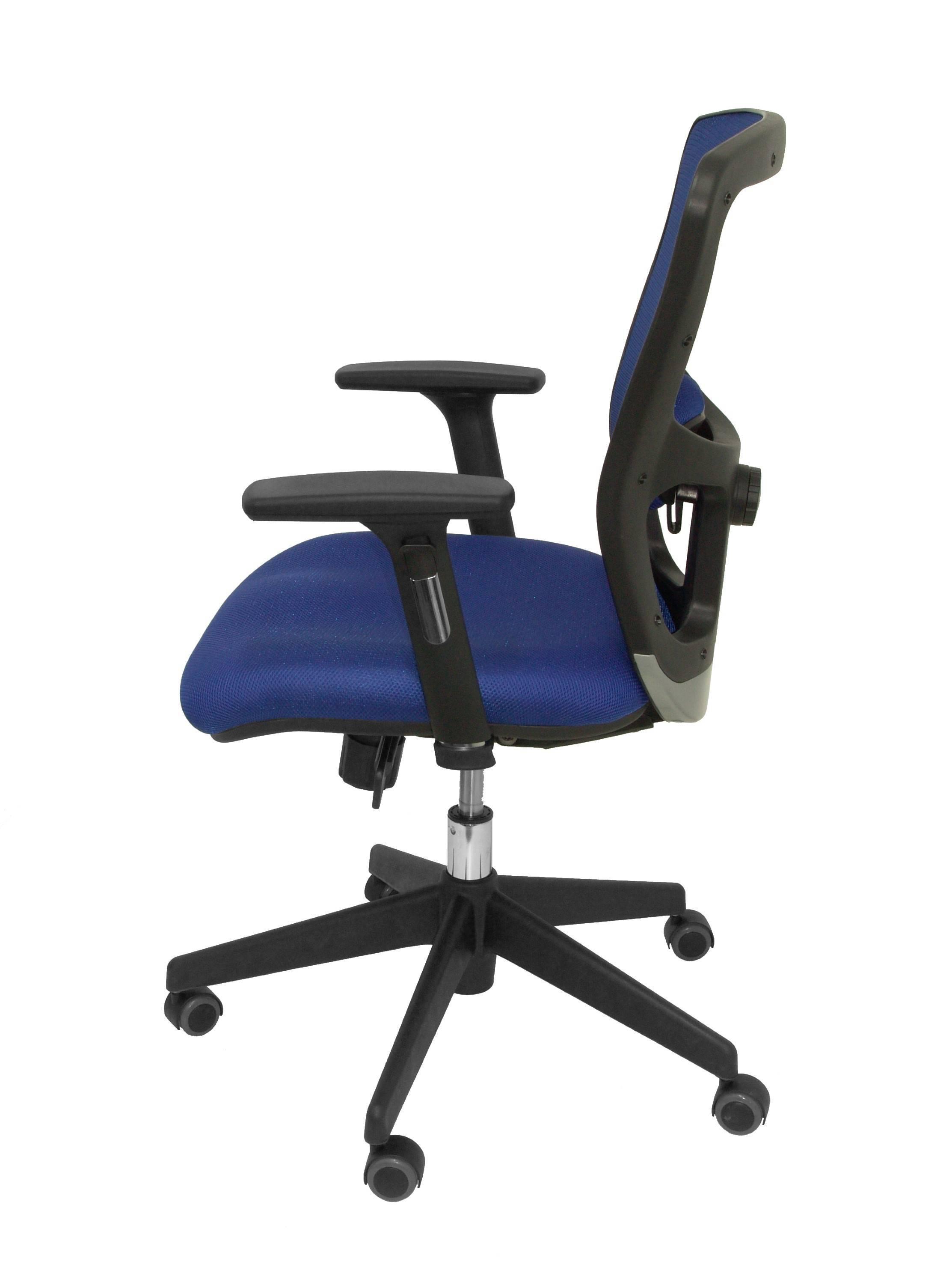Silla Pozuelo respaldo malla azul asiento bali azul