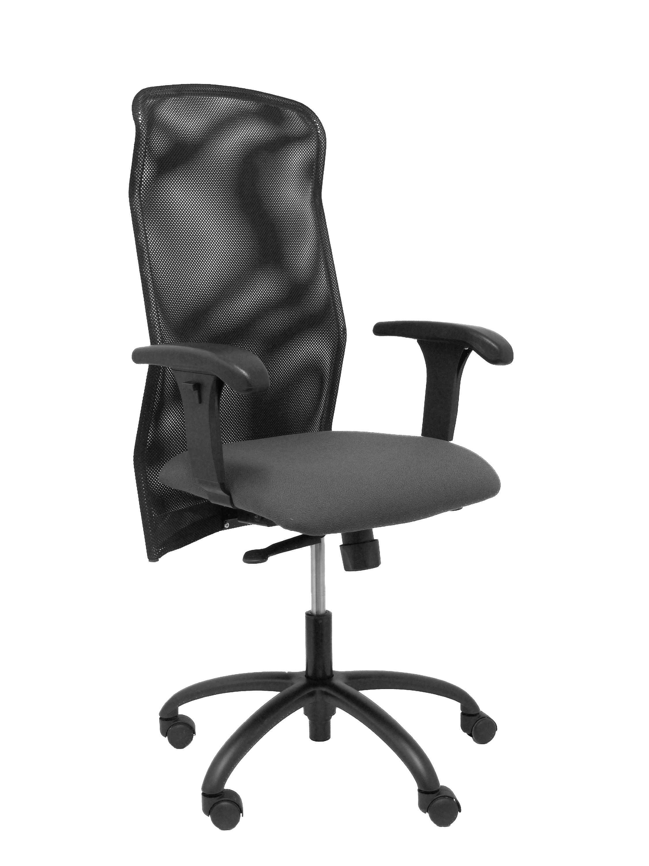 Silla Reillo respaldo malla negro asiento gris oscuro