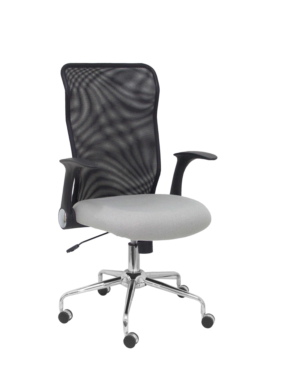 Silla Minaya respaldo malla negro asiento aran gris