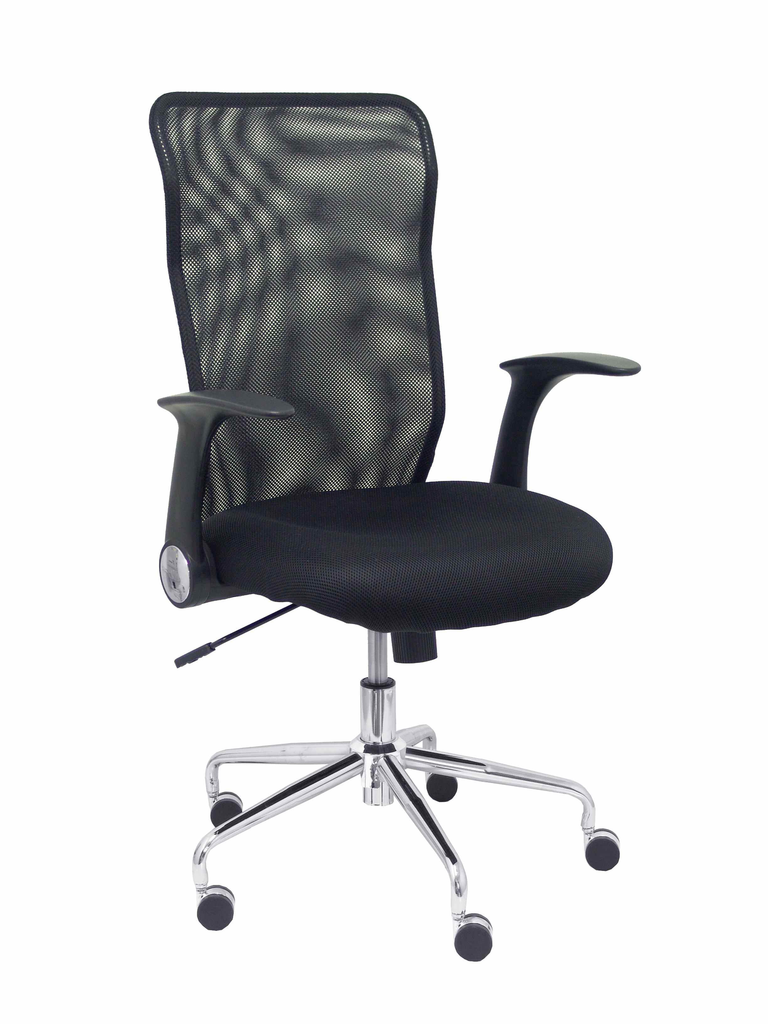 Silla Minaya respaldo malla negro asiento 3D negro
