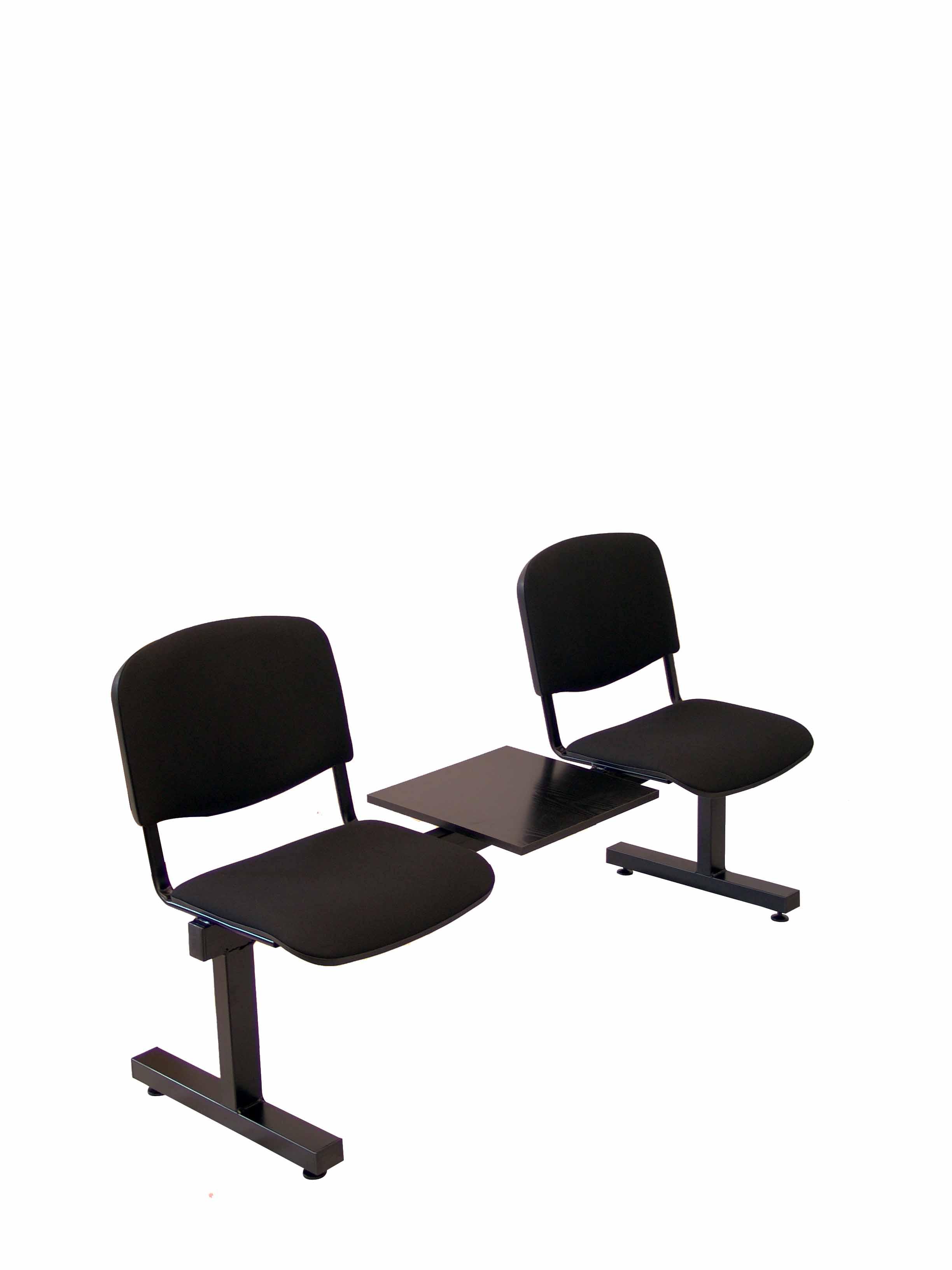 Bancada Illana 2 puestos+Mesa de Oficina aran negro