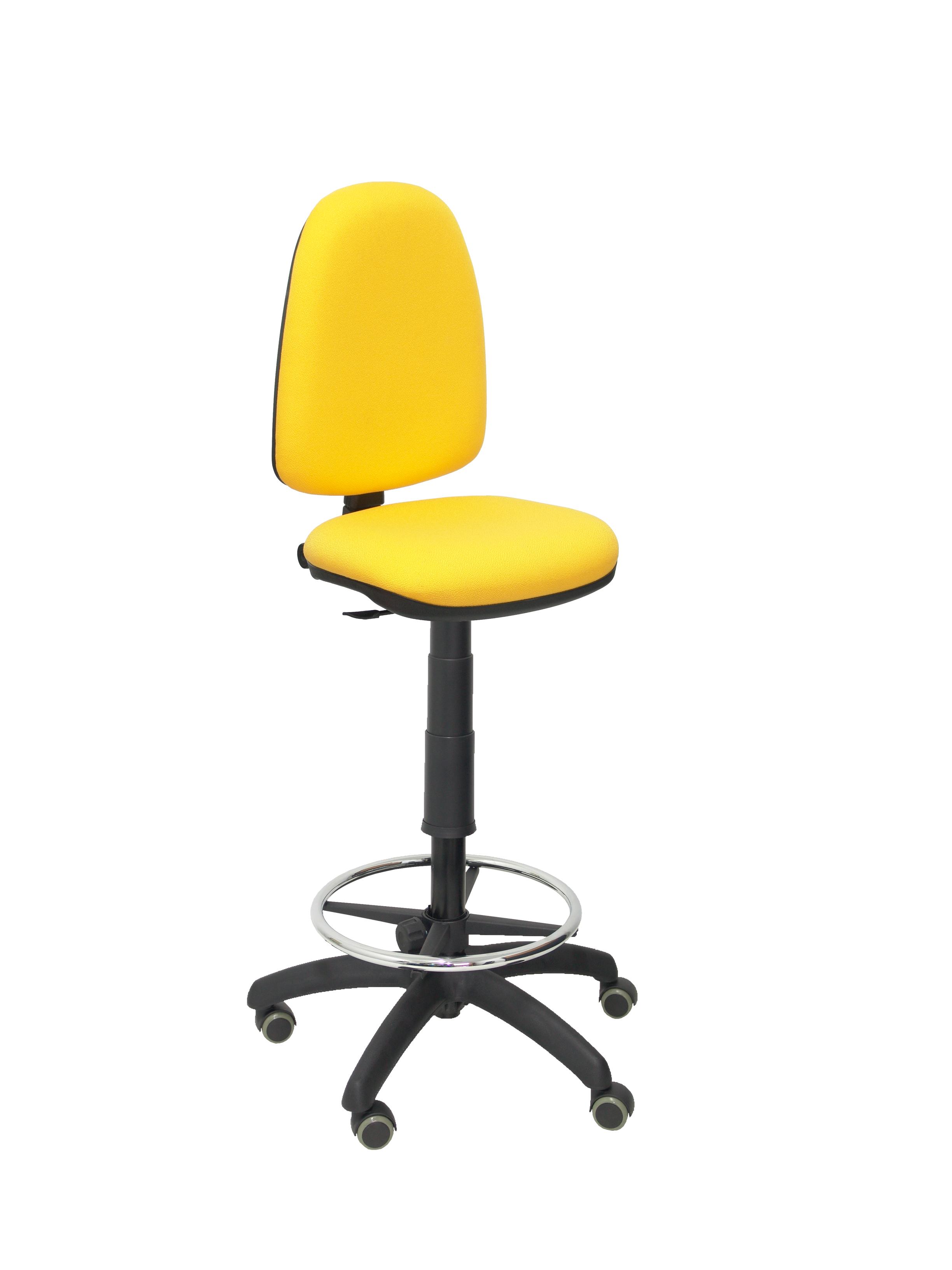 Taburete Ayna bali amarillo ruedas de parquet