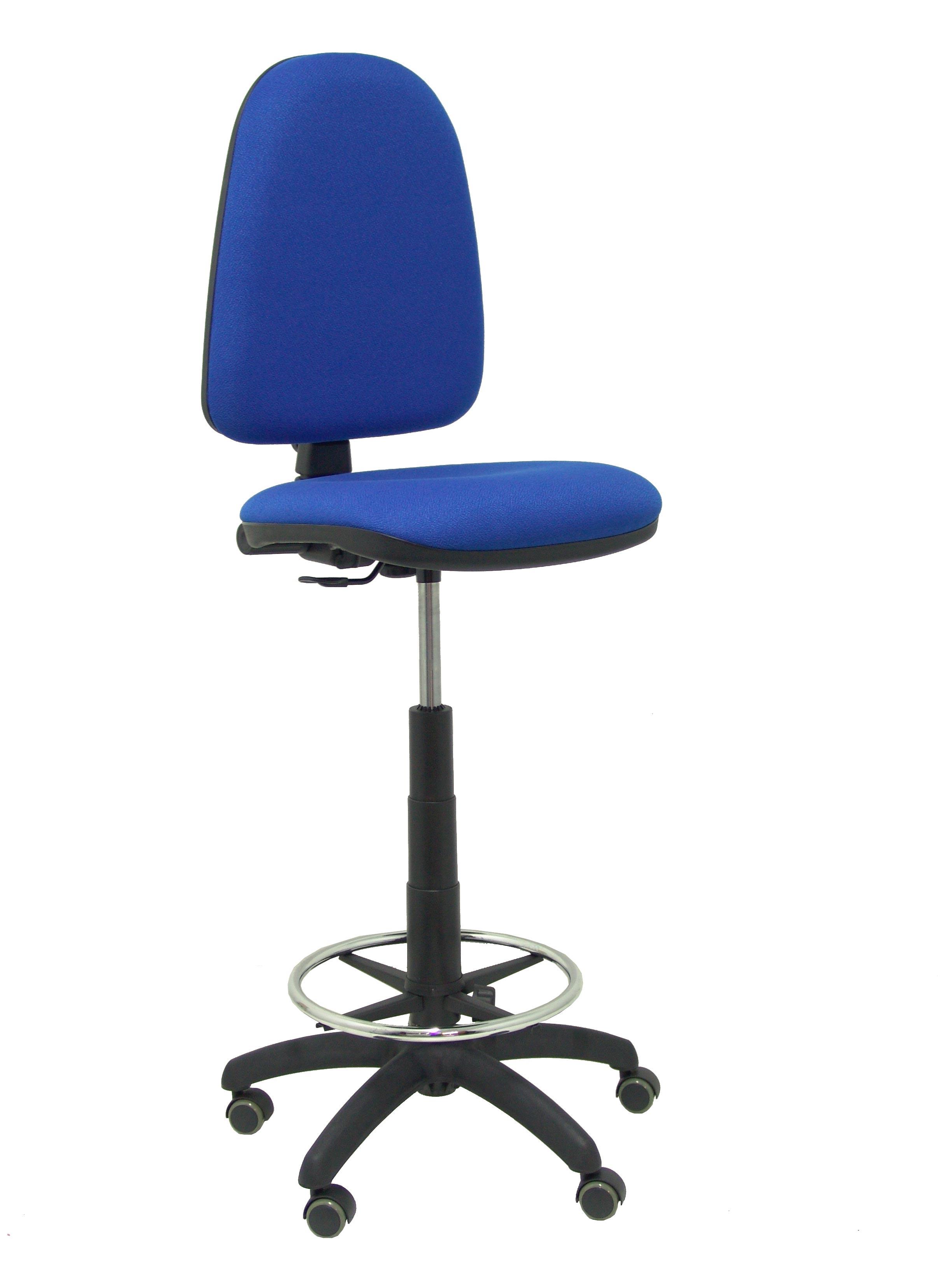 Taburete Ayna bali azul ruedas de parquet