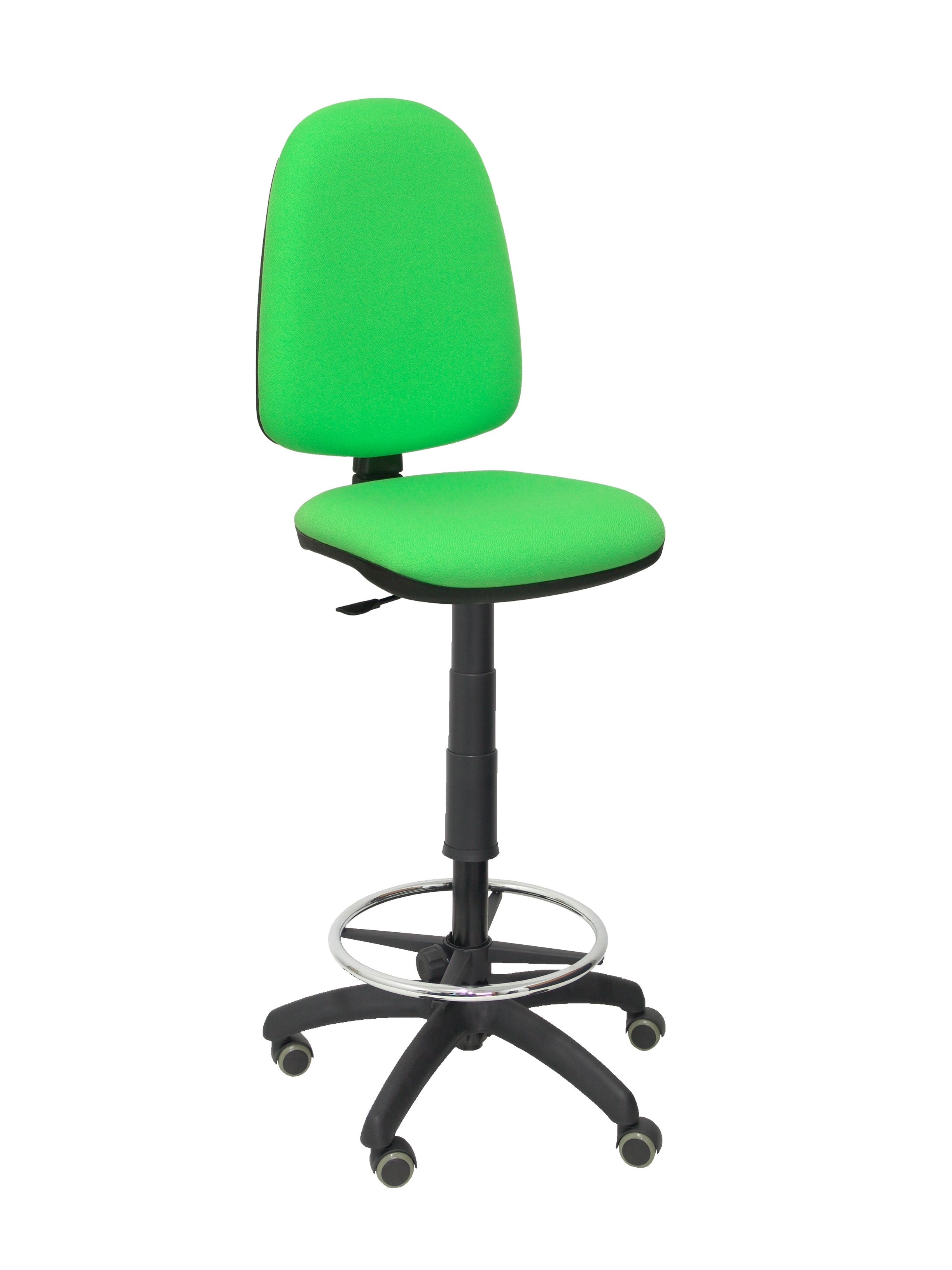 Taburete Ayna bali verde pistacho ruedas de parquet
