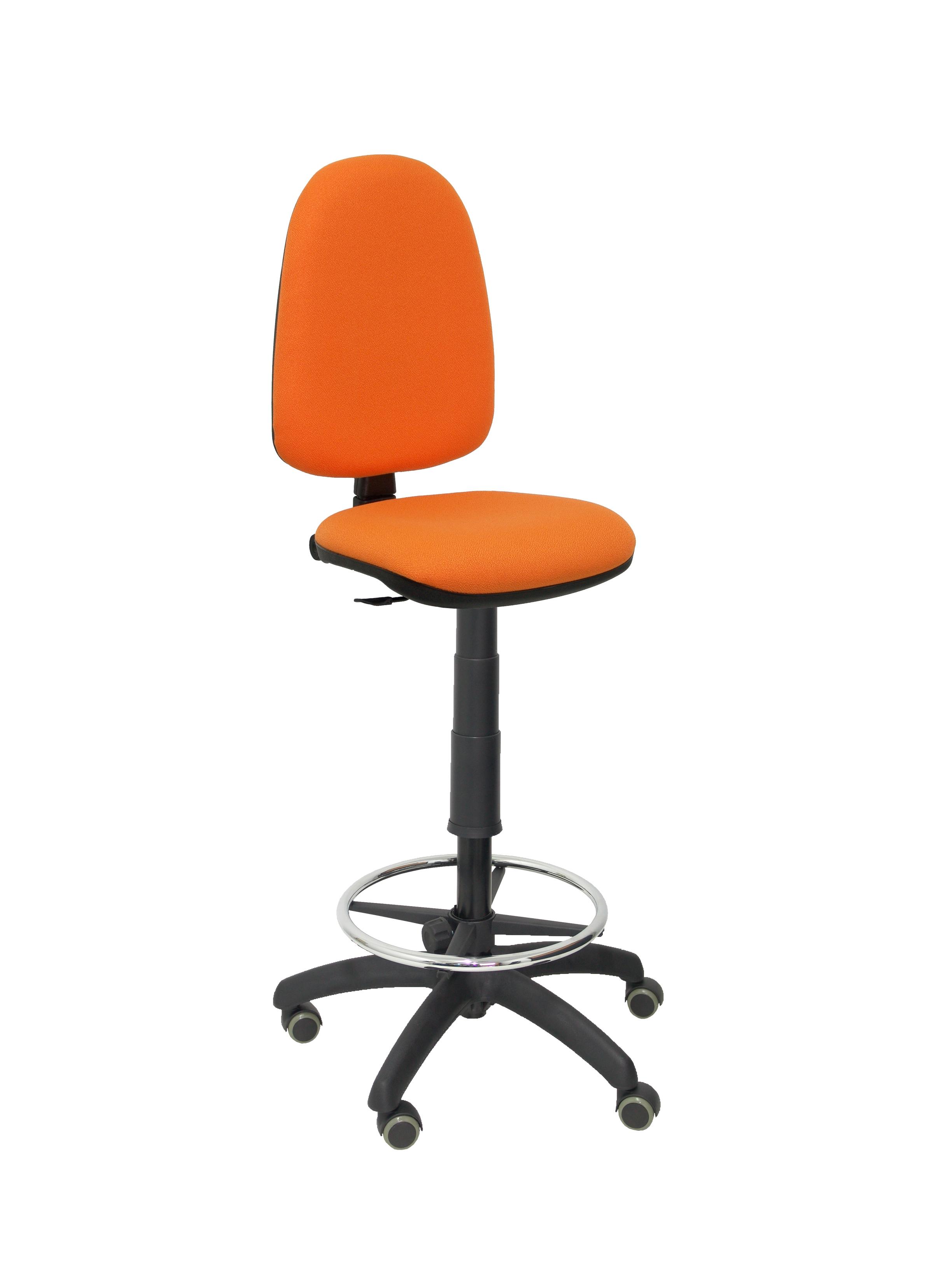 Taburete Ayna bali naranja ruedas de parquet