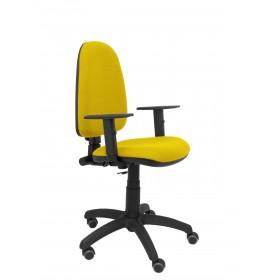 Silla Ayna bali amarillo brazos regulables ruedas de parquet