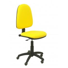 Silla Ayna bali amarillo ruedas de parquet