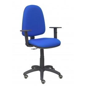 Silla Ayna bali azul brazos regulables ruedas de parquet