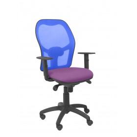 Silla Jorquera malla azul asiento bali lila