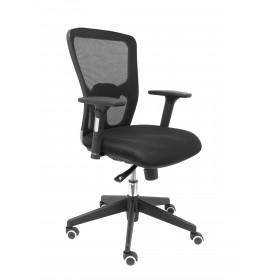 Silla Pozuelo respaldo malla negro asiento 3D negro