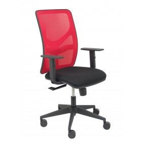 Silla Motilla malla roja asiento bali negro brazo regulable