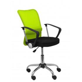 Silla Cardenete respaldo malla verde asiento negro