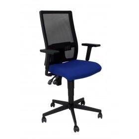 Silla Povedilla respaldo malla negro asiento bali azul