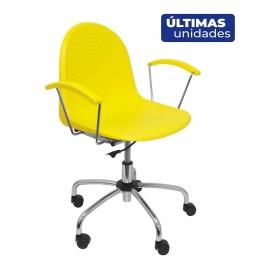Silla  Ves giratoria color amarillo