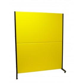 Biombo similpiel amarillo