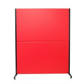 Biombo similpiel rojo