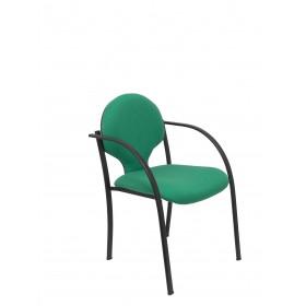 Pack 2 sillas Hellin chasis negro bali verde