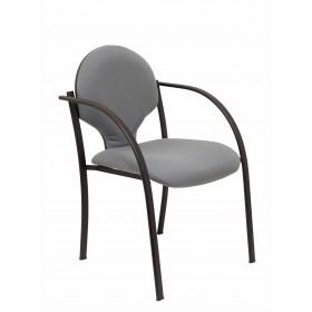Pack 2 sillas Hellin chasis negro bali gris