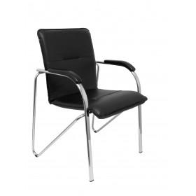 Pack 2 sillas Balsa similpiel negro estructura cromada