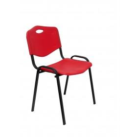 Pack de 4 sillas Robledo PVC rojo