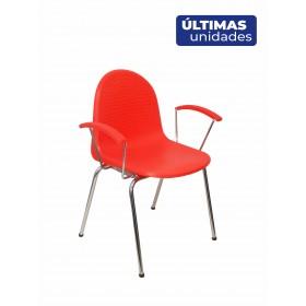 Pack 4 sillas Ves plástico naranja