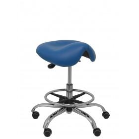 Taburete Alatoz similpiel azul