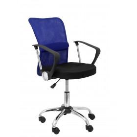 Silla infantil Cardenete respaldo malla azul asiento negro