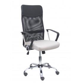 Silla Gontar respaldo malla negro asiento gris claro