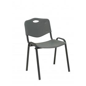 Pack 2 sillas Robledo PVC gris