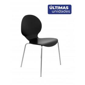 Pack 4 sillas Peñas madera negro