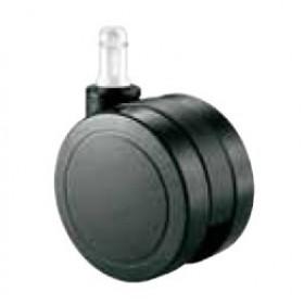 Pack 5 ruedas de nailon de 65mm negra